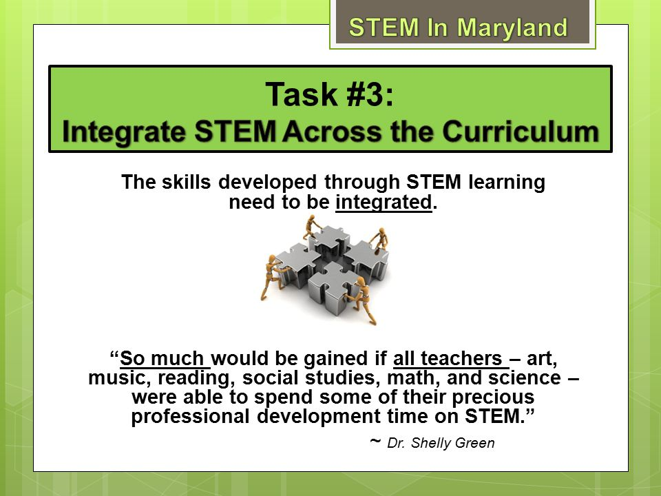 Task #3: Integrate STEM Across the Curriculum
