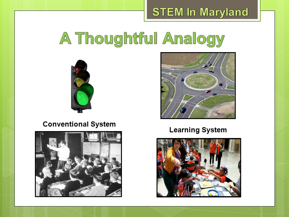 A Thoughtful Analogy STEM In Maryland Conventional System