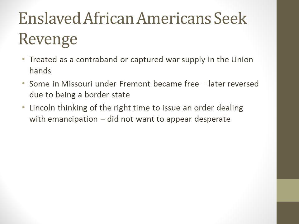Enslaved African Americans Seek Revenge