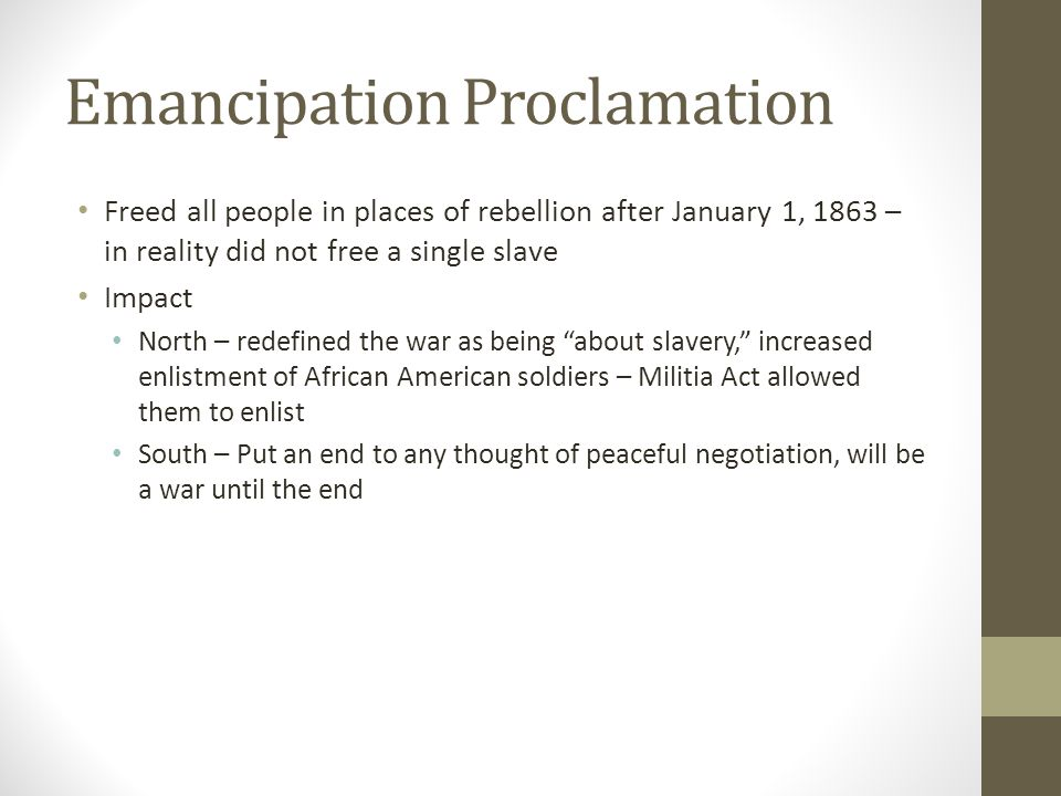 African Americans and the Civil War ppt download – Emancipation Proclamation Worksheet