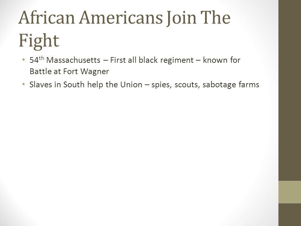 African Americans Join The Fight