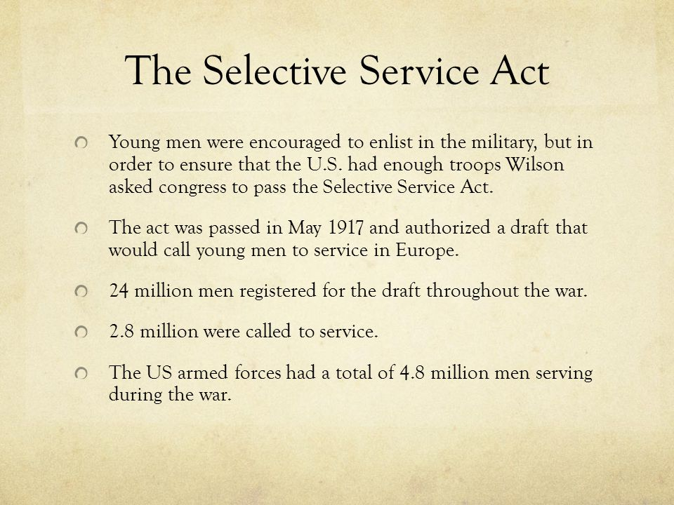 The Selective Service Act
