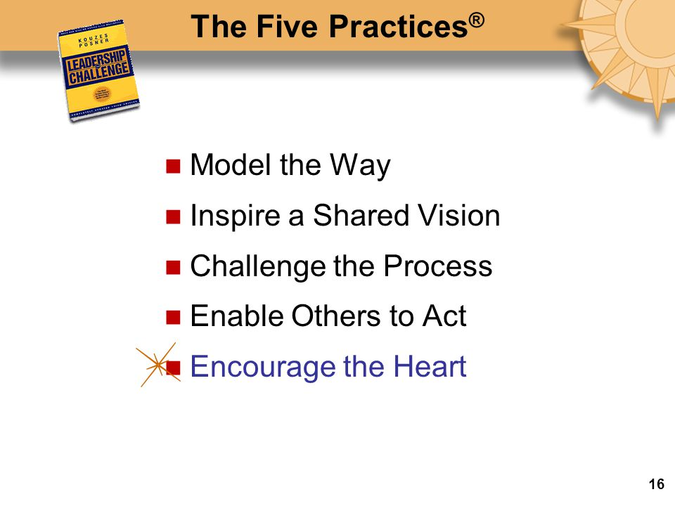 The Five Practices® Model the Way Inspire a Shared Vision
