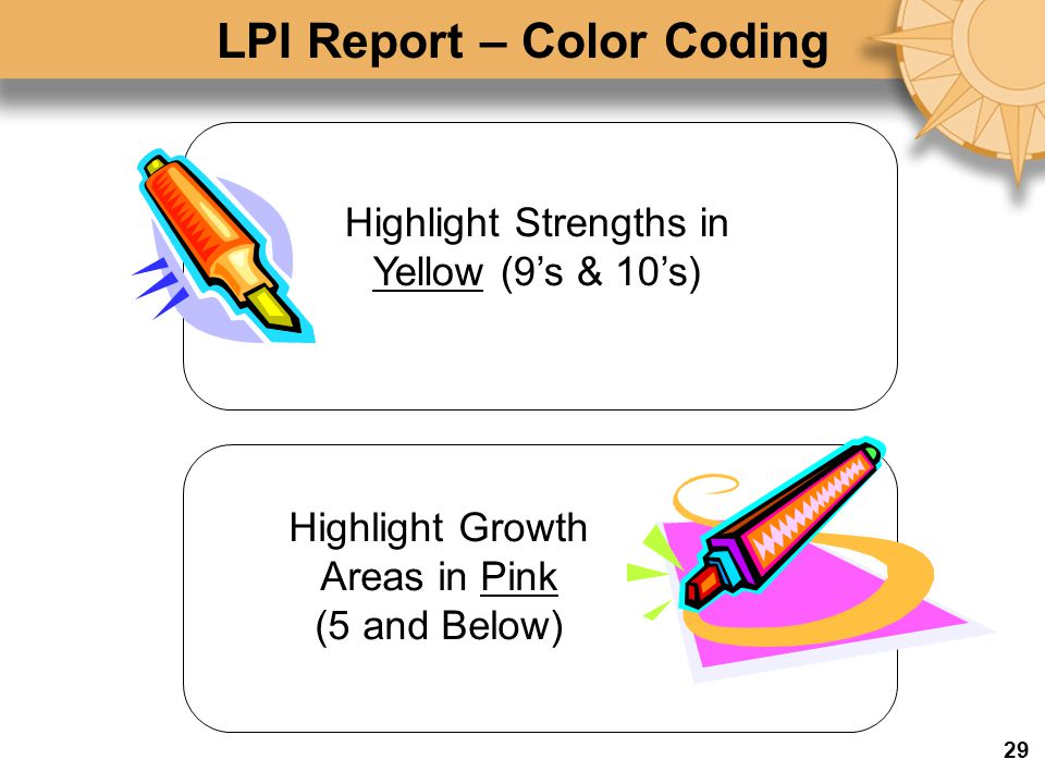 LPI Report – Color Coding