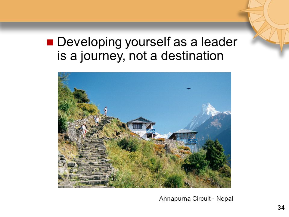 Developing yourself as a leader is a journey, not a destination