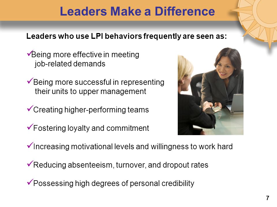 Leaders Make a Difference