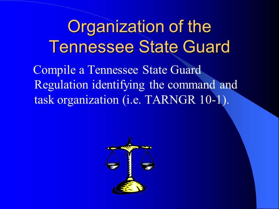 Organization of the Tennessee State Guard