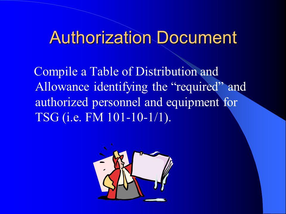 Authorization Document
