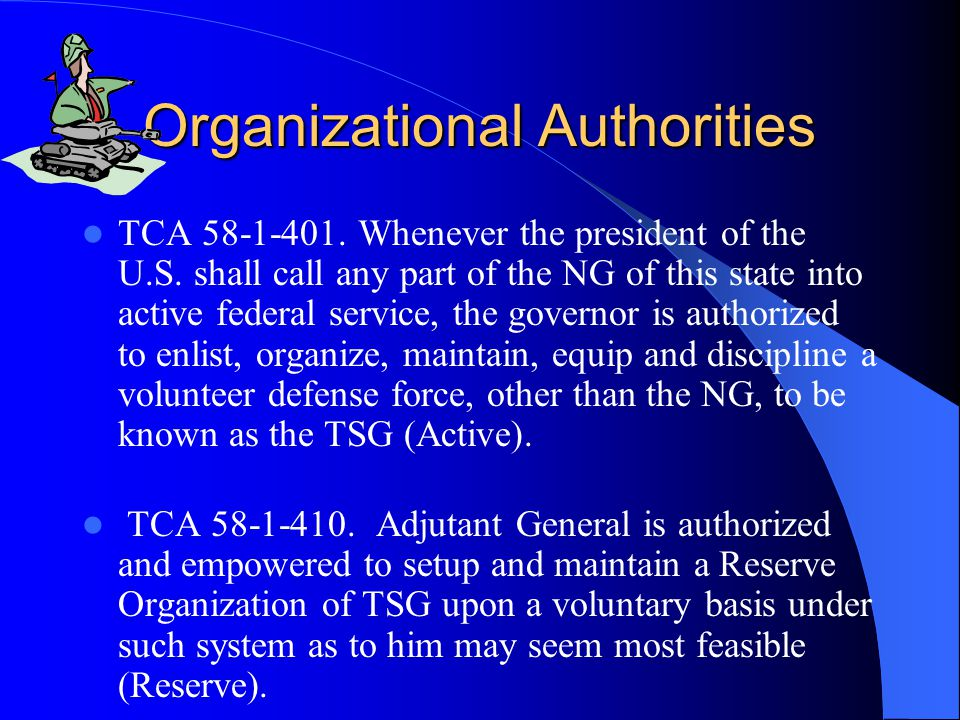 Organizational Authorities