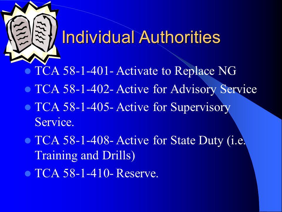 Individual Authorities