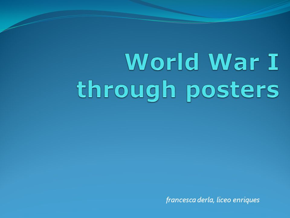 World War I through posters