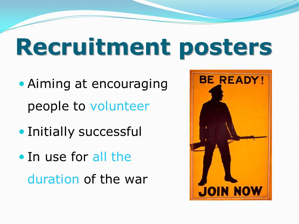 Recruitment posters Aiming at encouraging people to volunteer