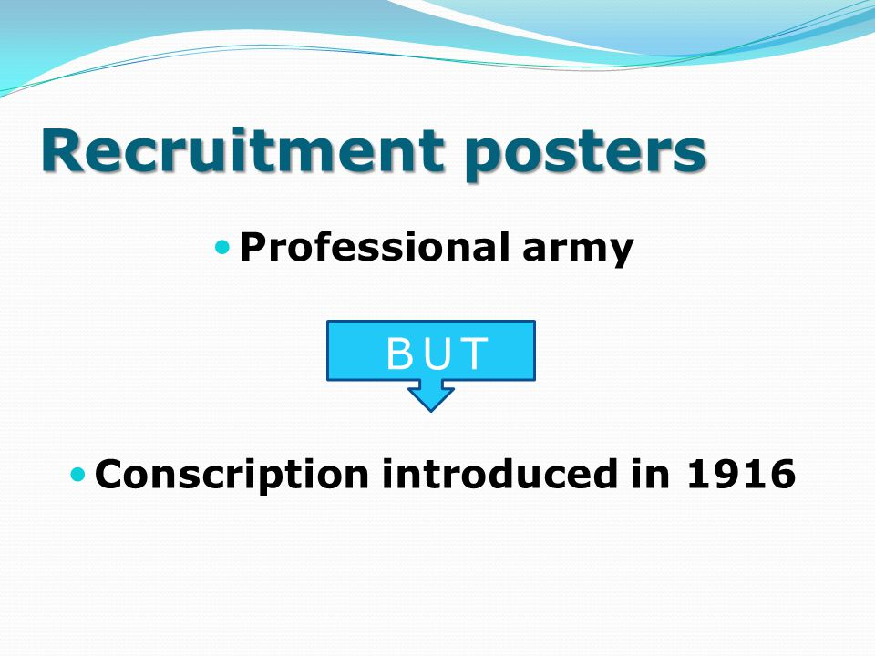 Recruitment posters BUT Professional army