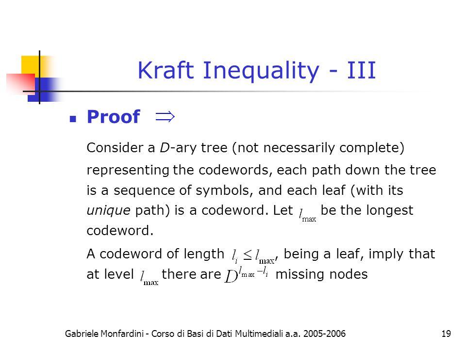 Kraft Inequality - III Proof