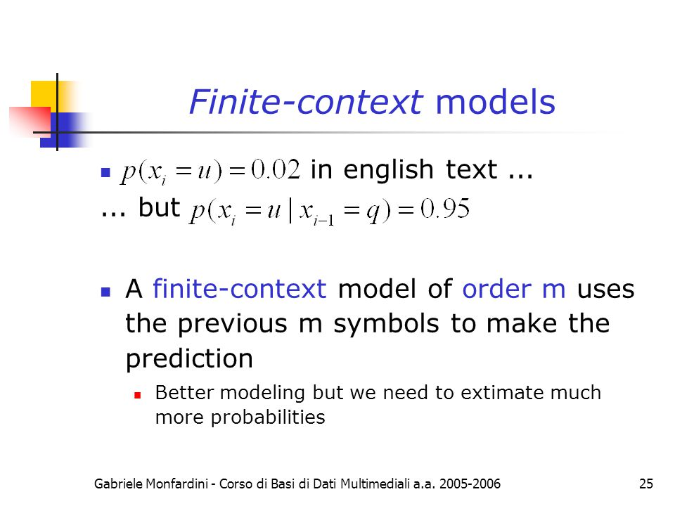 Finite-context models