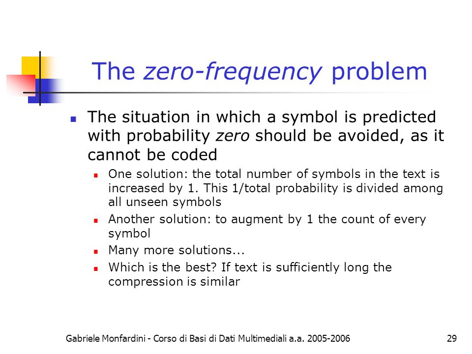The zero-frequency problem