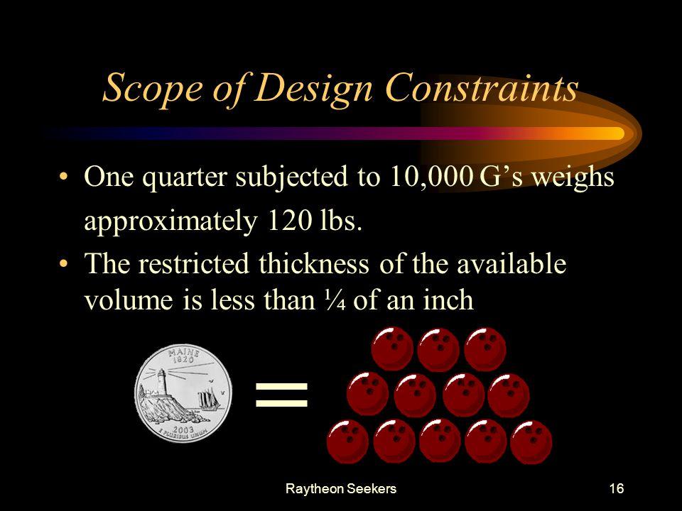 Scope of Design Constraints