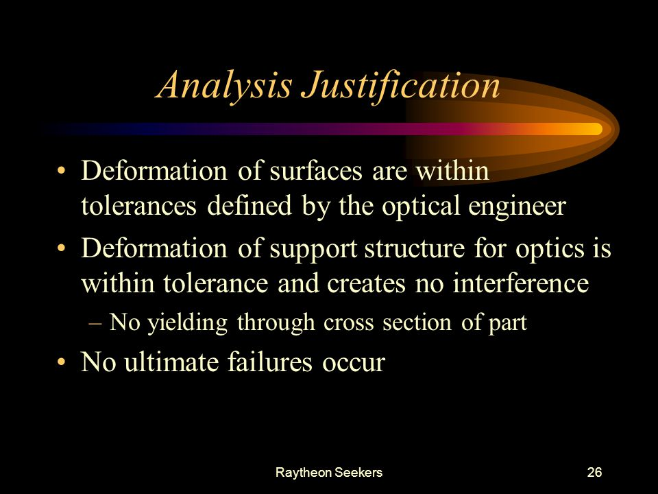 Analysis Justification