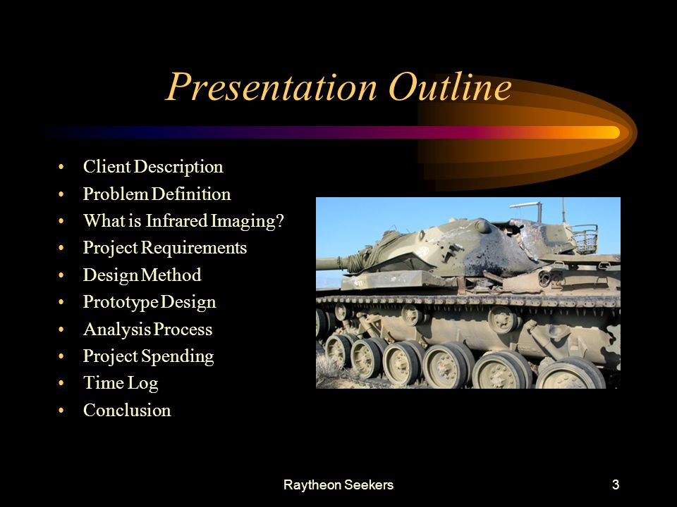 Presentation Outline Client Description Problem Definition