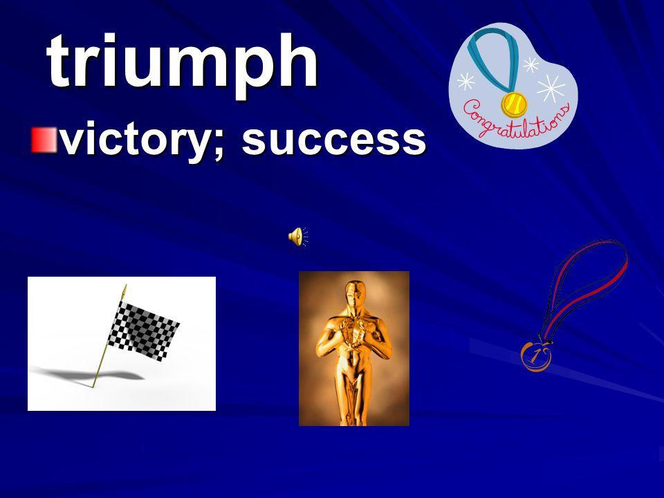 triumph victory; success