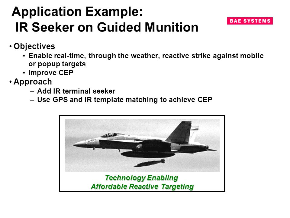 Application Example: IR Seeker on Guided Munition
