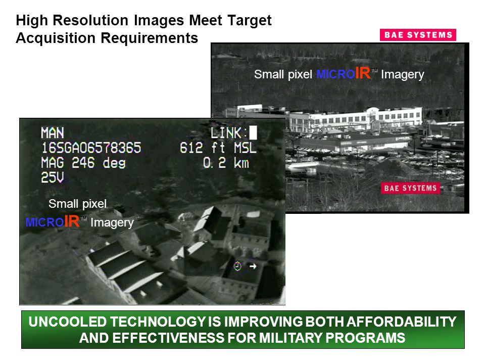 High Resolution Images Meet Target Acquisition Requirements