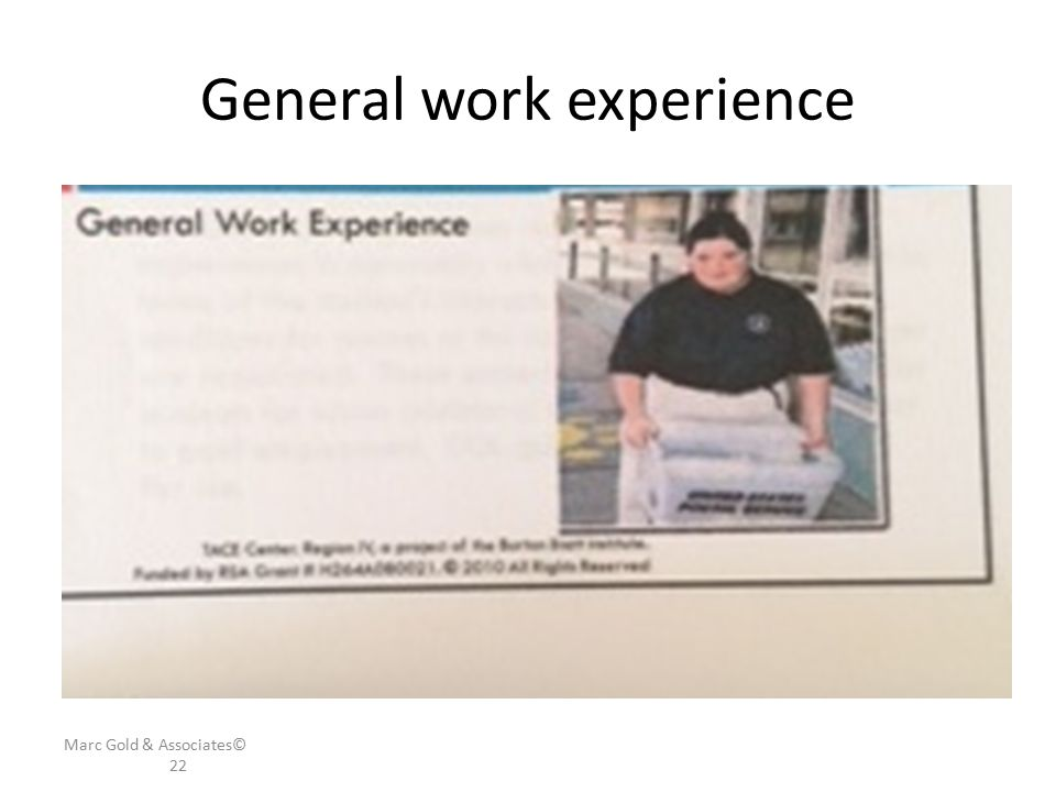 General work experience