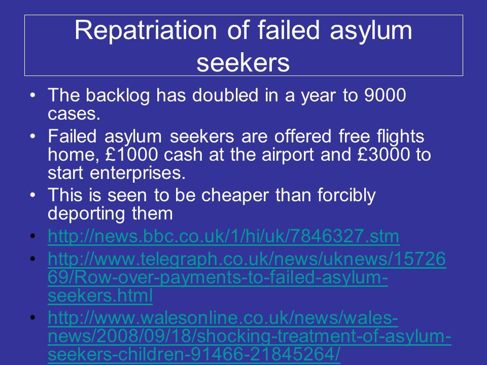Repatriation of failed asylum seekers
