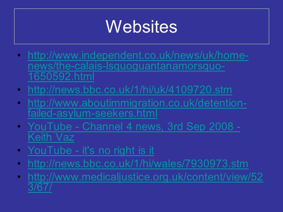 Websites http://www.independent.co.uk/news/uk/home-news/the-calais-lsquoguantanamorsquo-1650592.html.