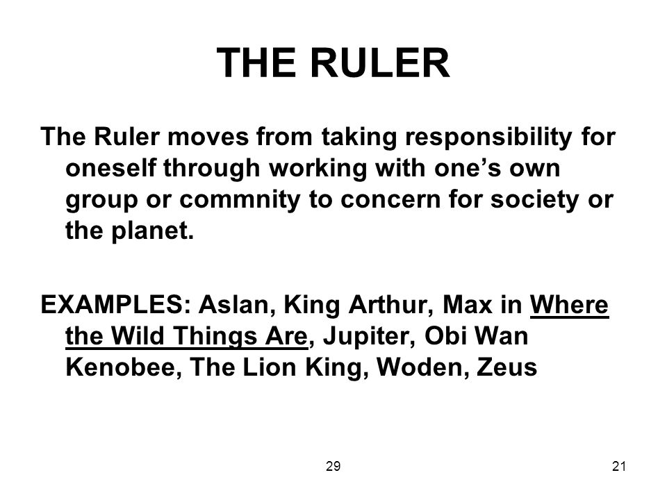 THE RULER
