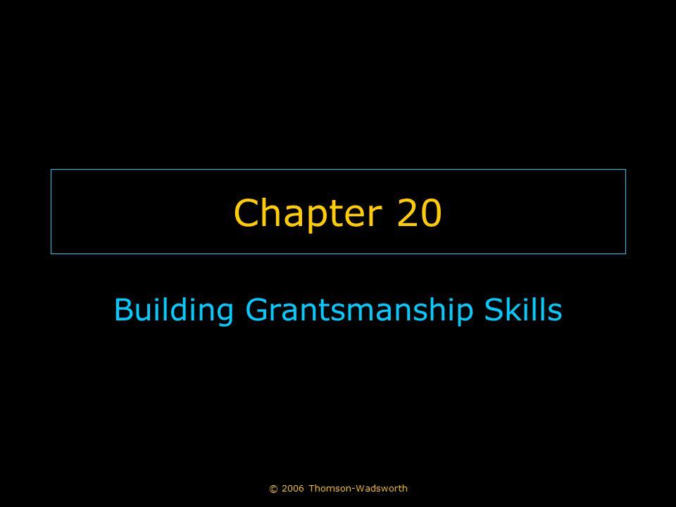 Building Grantsmanship Skills