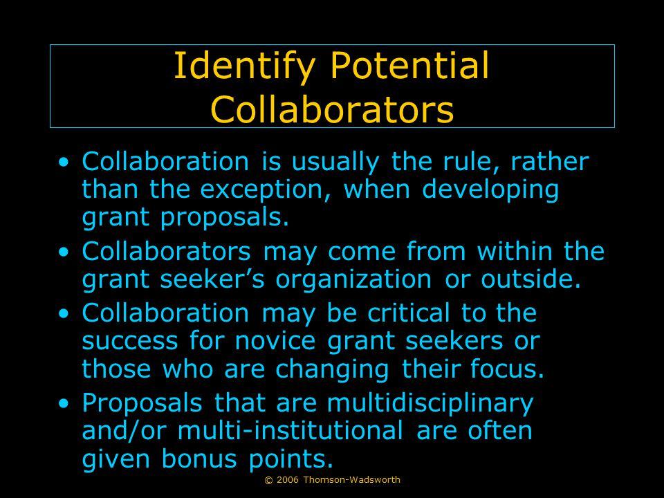 Identify Potential Collaborators