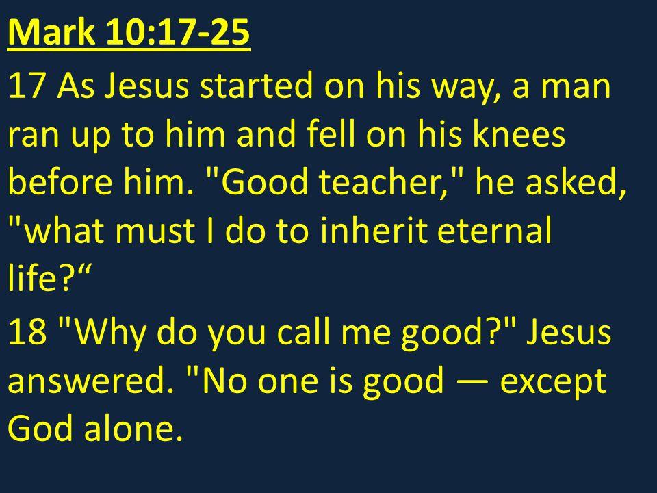 Mark 10:17-25