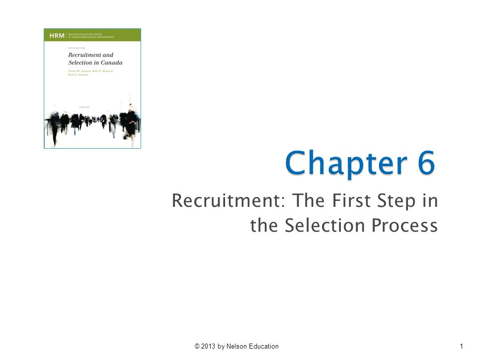 Recruitment: The First Step in the Selection Process