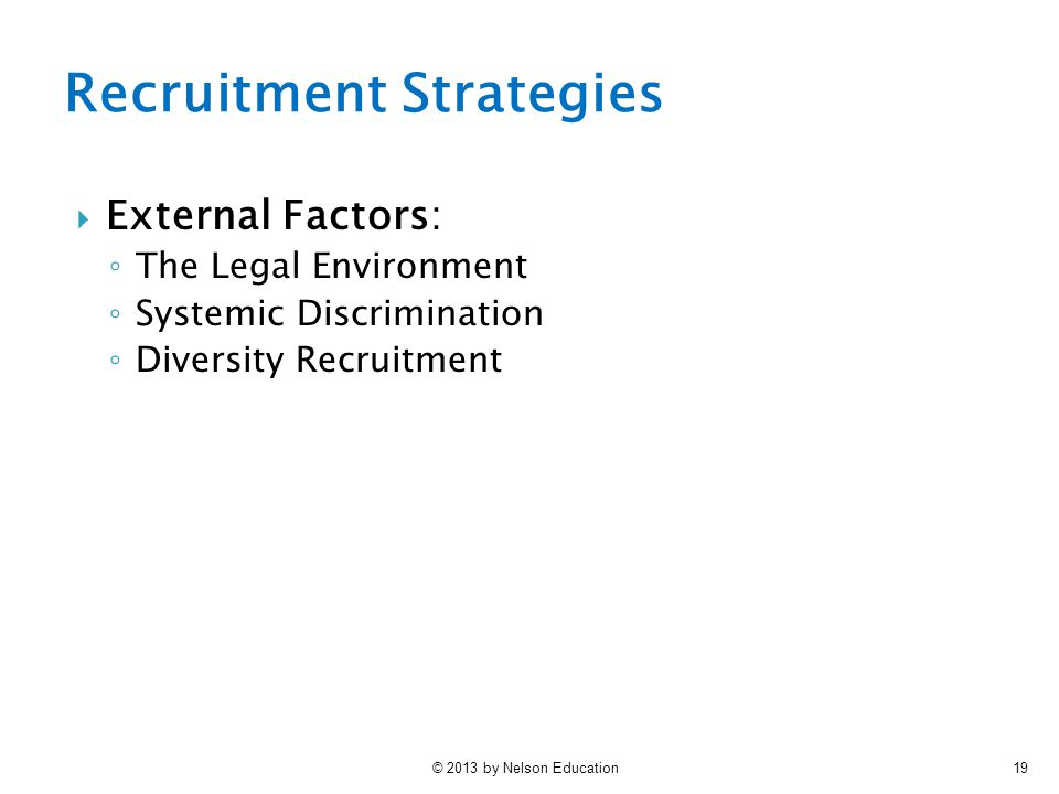Recruitment And Retention Practices