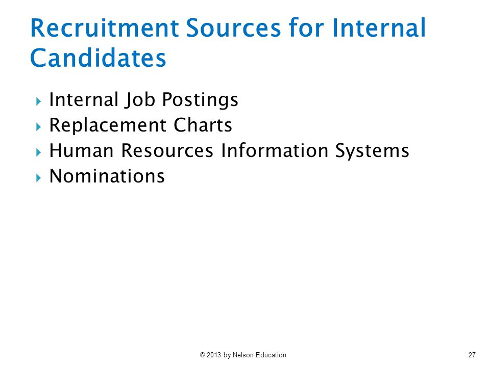 Recruitment Sources for Internal Candidates