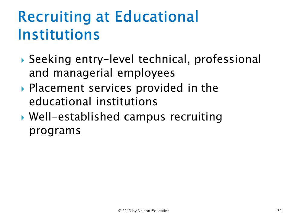 Recruiting at Educational Institutions