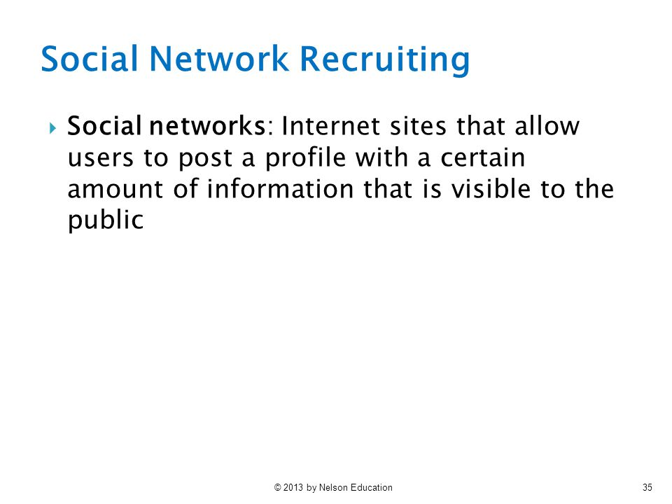 Social Network Recruiting