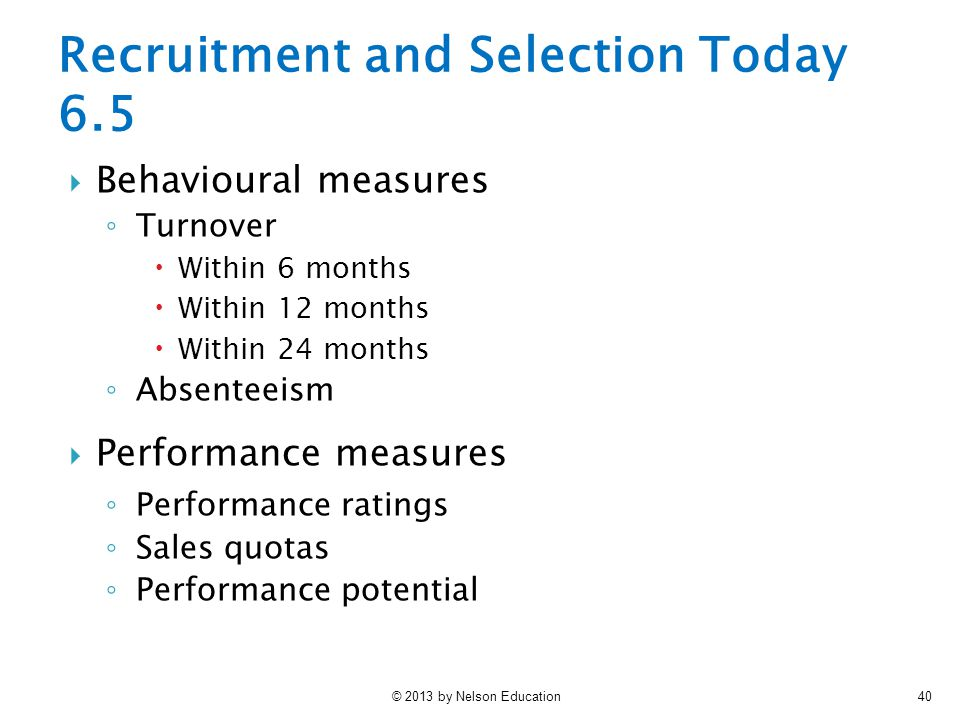 Recruitment and Selection Today 6.5