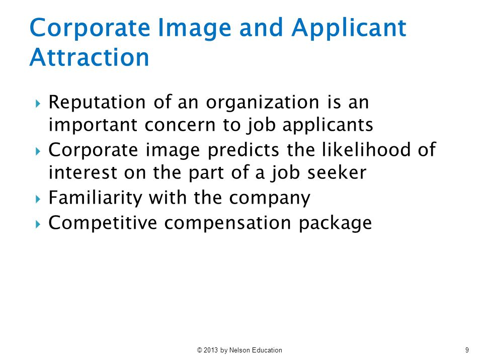 Corporate Image and Applicant Attraction