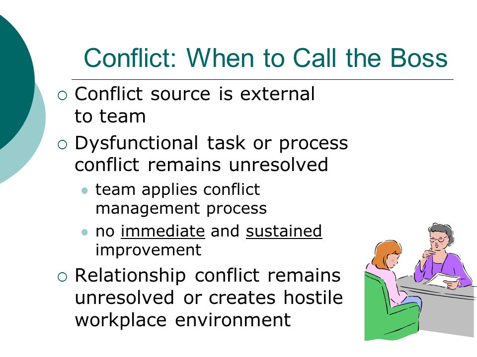 Conflict: When to Call the Boss