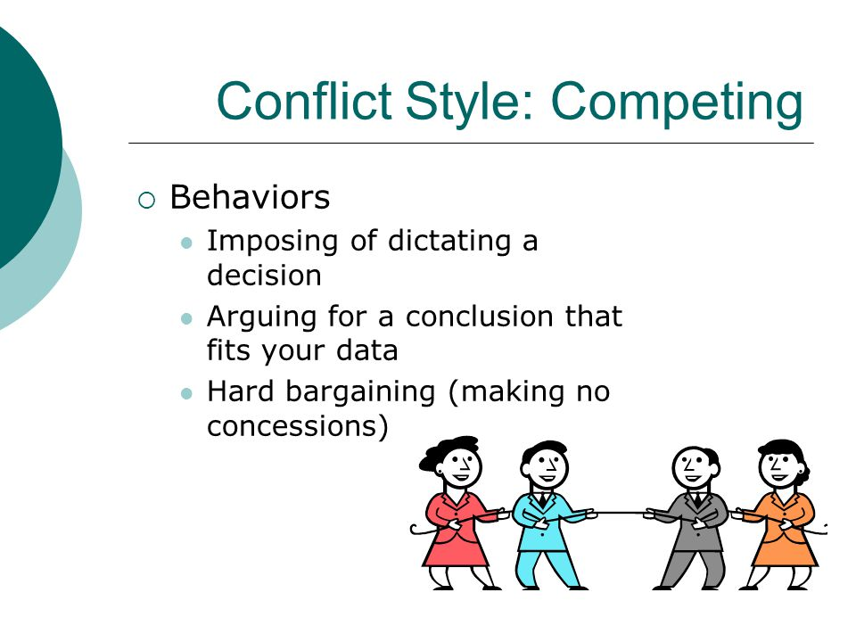 Conflict Style: Competing