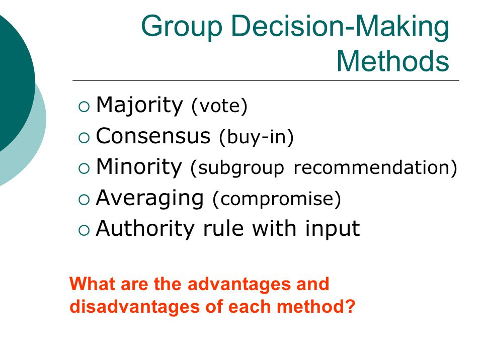 Group Decision-Making Methods