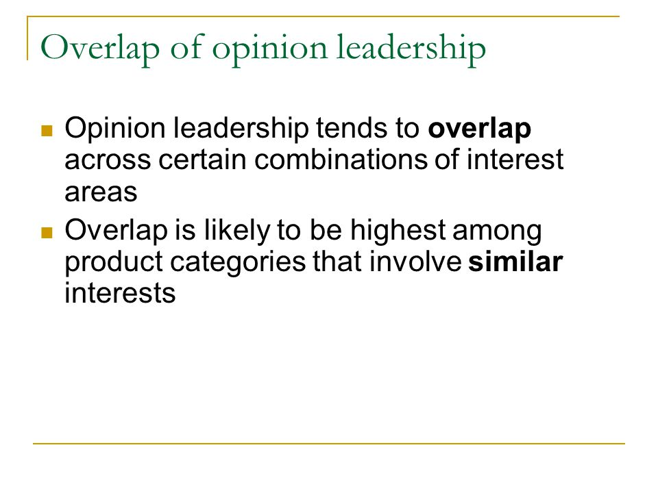 Overlap of opinion leadership