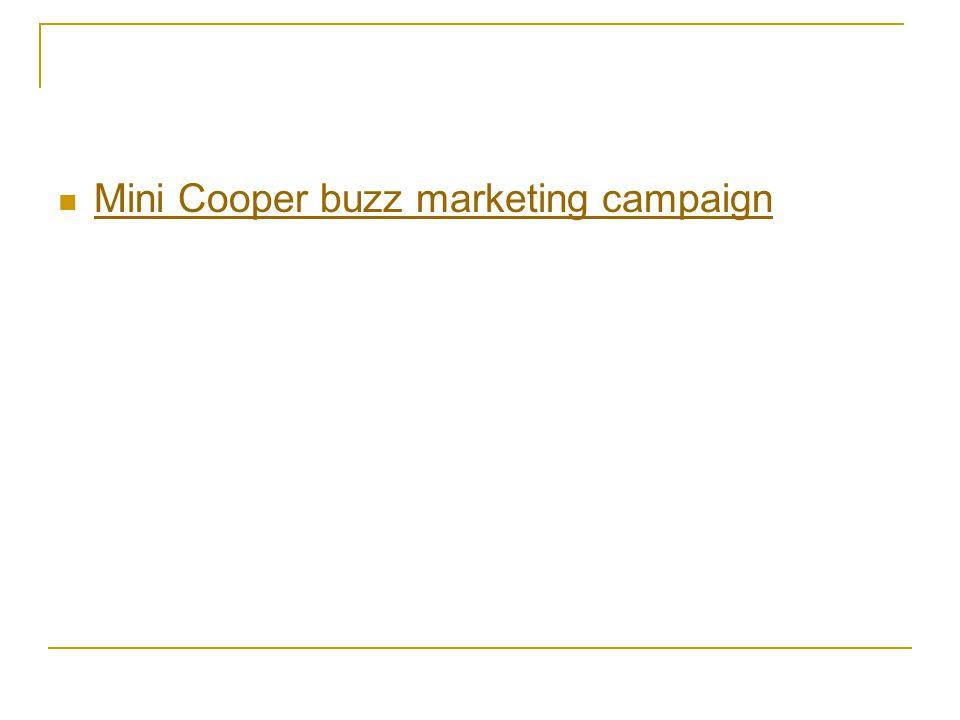 Mini Cooper buzz marketing campaign