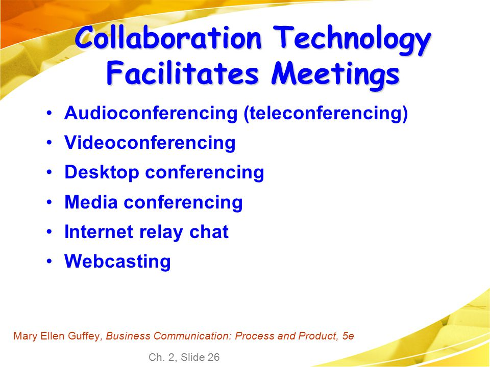 Collaboration Technology Facilitates Meetings