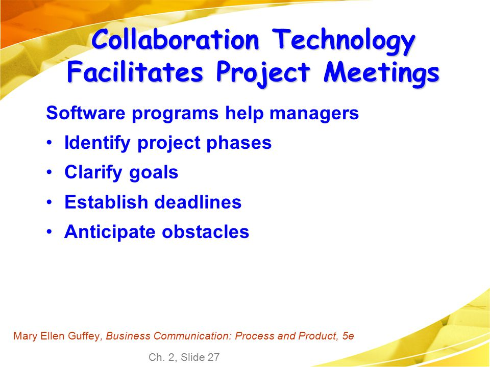 Collaboration Technology Facilitates Project Meetings