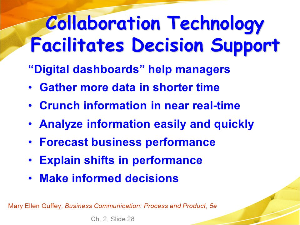 Collaboration Technology Facilitates Decision Support
