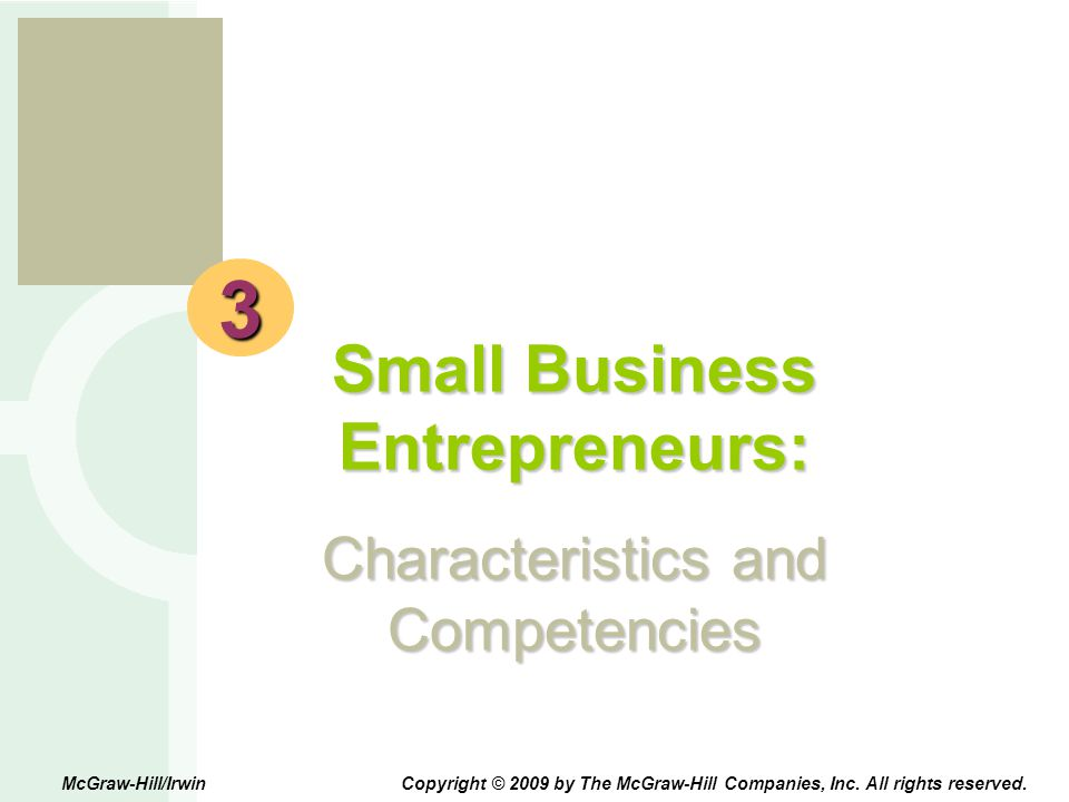 Small Business Entrepreneurs: