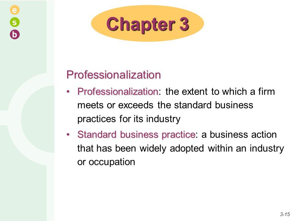 Chapter 3 Professionalization